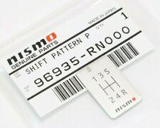 NISMO Nissan 96935-RN000 5-Speed Aluminium Shift Pattern Genuine OEM GTR Skyline