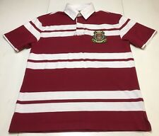 Vintage Tommy Hilfiger Shirt Red White Striped Rugby Polo S/S Mens Sz S - EUC