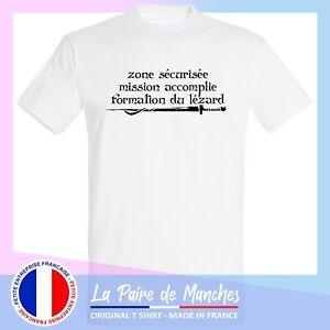 T shirt kaamelott - citation zone sécurisée, tee shirt homme blanc noir -ffsk9