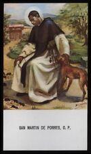 """santino-holy card""""S.MARTINO DE PORRES 7"""