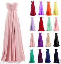Plus Size Chiffon Sleeveless Bridesmaid Formal Ball Party Cocktail Evening Dress