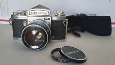 MIRANDA SENSOMAT RE, 35mm SLR Film CAMERA. With  50mm F1.4  and CASE