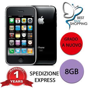 APPLE IPHONE 3 GS 8GB NERO CON ACCESSORI 3GS 8 GB RICONDIZIONATO A NUOVO