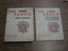 OEM Ford 1953 1954 Truck Pickup Shop Manual Book F100