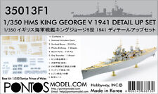 Pontos Model 1/350 HMS King George V 1941 Upgrade set for Tamiya Prince of Wales