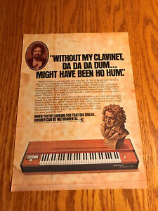 1978 VINTAGE 8X11 PRINT AD HOHNER CLAVINET D6 WALTER MURPHY A FIFTH OF BEETHOVEN