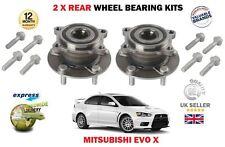 para Mitsubishi Evo X 10 2.0 Turbo 2007> NUEVO 2x Cojinete Rueda trasera kit