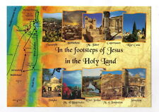 Footsteps of Jesus Christ POSTCARD Biblical Sites Holy Land Religious Christian