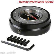 Universal Car Steering Wheel Quick Release Hub Adapter Snap Off Boss Kit Black