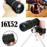 Super High Power 16X52 HD OPTICS BAK4 Night Vision Monocular Telescope Focus