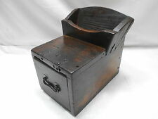 Antique Sugi Wood Zenni Bako Money Collect Box Japanese Drawers Circa 1880s #681