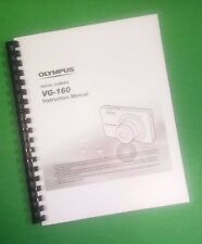 LASER 8.5X11 Olympus VG-160 Camera 76 Page Owners Manual Guide