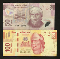 Mexico Banknote 50 & 100 Pesos, see description for details