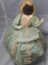 "Apple Head Doll Vintage Circa 1940's 10"" Tall"