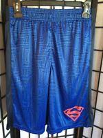 c52b2dea2d185 DC Comics Superman Boy's Size 14/16 Red, Black & Blue Logo Polyester Shorts