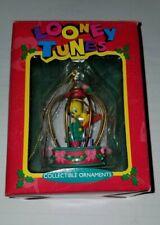 Tweety Bird Collectible Christmas Ornament 1995 Looney Tunes Bird Cage  Matrix