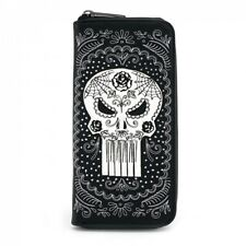 Loungefly - Marvel - The Punisher Sugar Skull Day of The Dead Zip Around Wallet