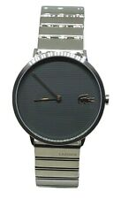 Lacoste  Men's 2010954 Quartz Gray Dial Stainless Steel Silver Tone Moon Watch