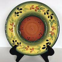 4 Tabletops Gallery La Province Hand Painted Dinner Plates Yellow Green 11-3/8""