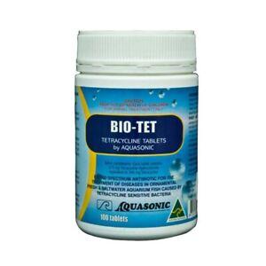 Aquasonic Bio-Tet (100t) - Broad Spectrum Antibiotic Marine/Freshwater Aquariums