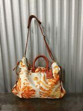 Cole Haan Large Duffle Bag Canvas,Cotton Orange New