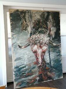 Ralph Fleck Öl auf Leinwand großes Hauptwerk handsigniert  200 x 150 cm