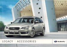 Subaru Legacy Saloon & Sports Tourer Accessories 2007-08 UK Market Brochure