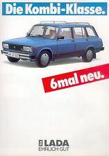 Lada Nova Kombi Prospekt 1987 1/87 brochure Autoprospekt prospecto prospectus