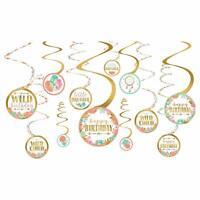 BOHO Happy BIRTHDAY Party Decorations Wild Child Room Decor Spirals Hanging 1st