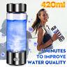 US 420ml USB Hydrogen Rich Water Maker Ionizer Generator Bottle Cup Portable Mug