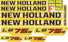 New Holland LB75B Backhoe Decal / Adhesive / Sticker Complete Set