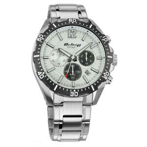 Titan Octane Men's Watch Silver Dial, Silver Strap Chronograph 90108KM01