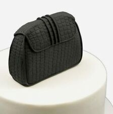 Edible 3D Black Clutch Bag Purse Sugar Flower Fondant Topper cake decoration