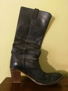 D. Co Copenhagen grey distressed leather calf boot size 40