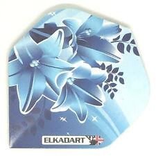 ELKADART Dart Flights BLUE FLOWERS Standard Shape EXTRA STRONG