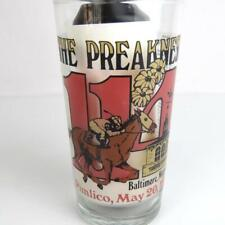 1989 Preakness Stakes Commemorative Glass 114th Pimlico Baltimore Maryland Mint