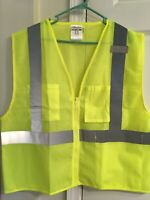 ML Kishigo - 3 Pocket Zipper Mesh Vest - Style #1085 Color Lime Size XL
