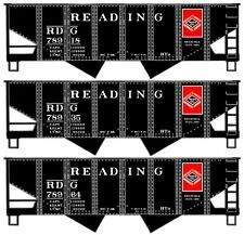 Accurail Reading 2-Bay Rib Side Hopper Car Kits (3 car set/ 3 car #'s) *New Set