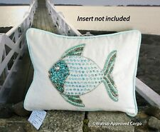 SECRET CELEBRITY FISH PILLOW COVER -NWT- A GREAT CATCH FOR HANDSOME DÉCOR!