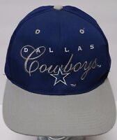 Vtg 1990s DALLAS COWBOYS ADVERTISING NFL Football SNAPBACK HAT CAP TROY AIKMAN