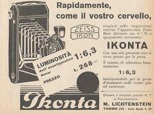 Z1838 ZEISS IKON Ikonta Novar 1:6,3 - Pubblicità d'epoca - 1929 Old advertising