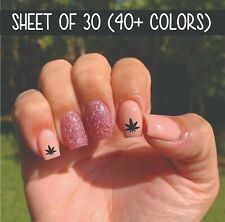 Nail Art Manicure Pedicure Decal Stickers Pot Weed Marijuana Leaf Cannabis