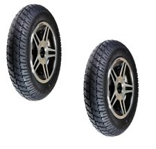 """14""""x 3"""" Black Flat-Free Drive Wheels for Jazzy Select 14, Elite HD Wheelchairs"""