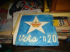 Dibujo Original Diseñado Mano Propaganda Fiesta Monárquico - Vota N 20