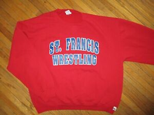 ST FRANCIS WRESTLING SWEATSHIRT de Sales KNIGHTS Toledo High School Crewneck LG
