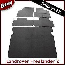 Land Rover Freelander Mk2 2006-2014 Tailored Carpet Car Floor & Boot Mats GREY