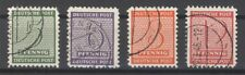 SBZ Mi.Nr. 120-123x, Freimarken mit Versuchszähnung gestempelt (20469)