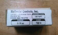"MCDANIEL CONTROLS 0-30 PSI, 1/8"" MNPT, 2"" FACE,"