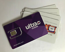 Lot Of 5X Ultra Mobile Triple Cut 3 in 1 Sim Card for T-Mobile Phone unlocked ph
