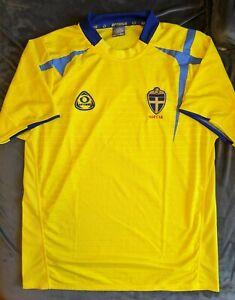 SUECIA Yellow Sweden Soccer Jersey Optimus Large Mint Football Futbol